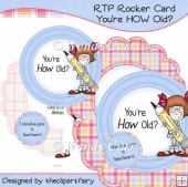 Rocker Card - You're HOW Old?(Retiring in August)