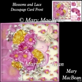 Blossoms and Lace Decoupage Card Front