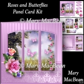 Roses and Butterflies - Panel Card Kit