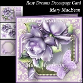 Rosy Dreams Decoupage Card