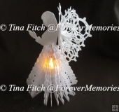 3D Tealight Angel Model TF0130, SVG, CRICUT, CAMEO