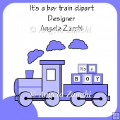 IT'S A BOY TRAIN CLIPART