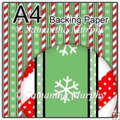 ref1_bp667 - Red Green Dots & Stripes & Snowflakes