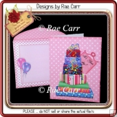 060 Pink Polka Dots Gifts Galore Card *Machine Formats*