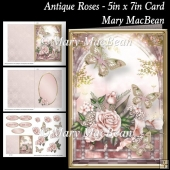 Antique Roses - 5in x 7in Card