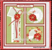 Poppies 7x7 card