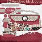 3D Handbag black dots