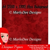 Elegant Dark Red Color Floral Pattern Single Background {BT}