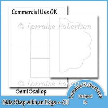 Side Step with an Edge Template ~ Semi Scallop