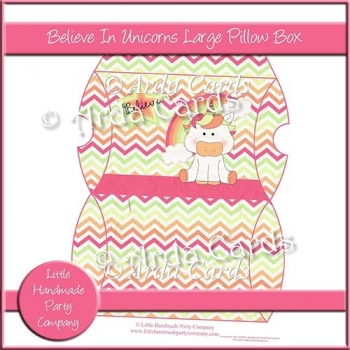 Believe In Unicorns Large Pillow Box