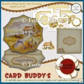 Seaside Cottage Spider Web Invertage Easel Card Kit