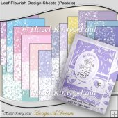 Leaf Flourish Design Sheets (Pastels)