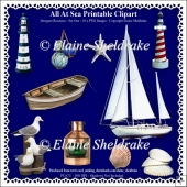 All At Sea - Printable Clipart - Set One - Designers Resource