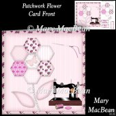 Patchwork Flower Card Front