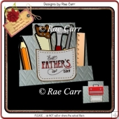 810 Father's Day Step Card *HAND & MACHINE Formats*