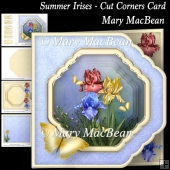 Summer Irises - Cut Corners Card