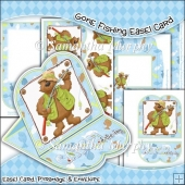 Gone Fishing Easel Card Download