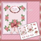 Baby Girl Decoupage