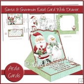 Santa & Snowman Easel Card With Drawer