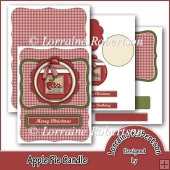 Apple Pie Candle Easel Card