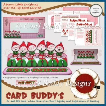 A Merry Little Christmas Over The Top Easel Card Kit