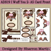 ADS19 I Woof You 2 Card Front and Decoupage