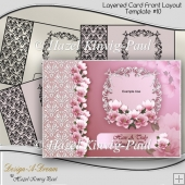 Layered Card Front Layout Template #10