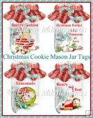 Christmas Cookie Mason Jar Diecuts for Cards, Tags, Labels