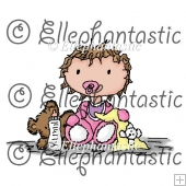 Baby Eva Digital Stamp