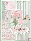 Spring Green Backing Background Papers Set