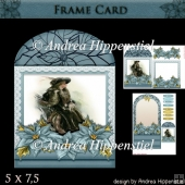 Wonderful Floral Frame Card Girl 7