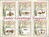 Cottage Chic Easter Greetings Topper Set