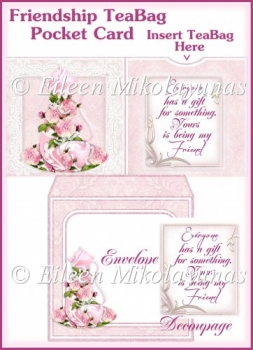 Friendship Tea Bag Pocket Card Set