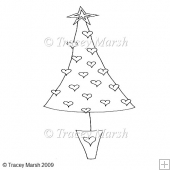 Christmas Tree 6 Clipart - Digital Stamp