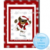 Teddy Santa Card Topper/Front