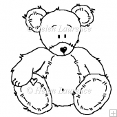 Mr Roger the Bear Freebie! JPEG Line Art Digital Stamp