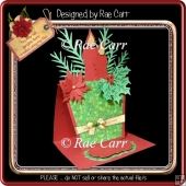 803 Christmas Teapot Easel Card *MACHINE Formats*