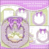 Lavender 3D Shadow Box Card & Envelope