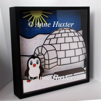 Igloo Christmas Picture Box Template - PDF