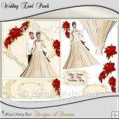 Wedding Easel Panels/Card Front
