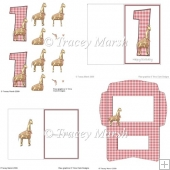 Girl 1st Birthday Giraffe Card Making Set