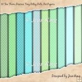 10 Sea Foam Desires Tiny Ditsy Dots A4 Papers