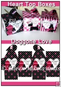 Doggone Love Heart Top Gift Boxes Set of 3