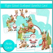 Flight School Scalloped Gatefold Card