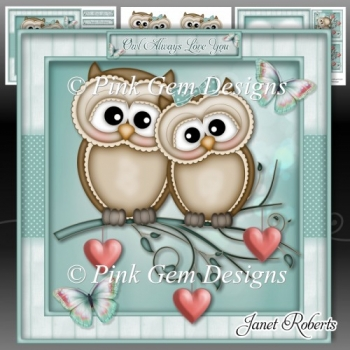 Valentine Owls Mini Kit Valentines Day/Anniversary/Engagement