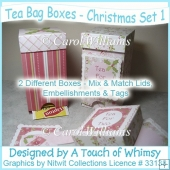 Tea Bag Boxes - Christmas Set 1
