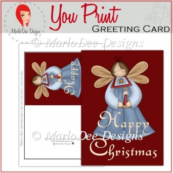 Happy Christmas Angel Full Card & Card Front