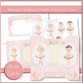 Beautiful Ballerina Double Fold Back Card