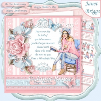 THE CAT LADY ROSES & VERSE 7.5 Decoupage & Insert Mini Kit