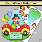 Cheeful Clown Rocker Card